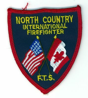 Vintage North Country Internatiional Firefighter FTS Patch Fire Department