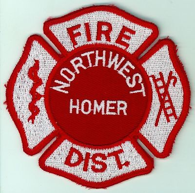 NWFD Northwest Homer Fire District Fire Department Uniform Patch Illinois IL