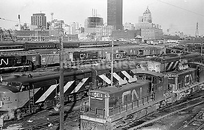 1968 Toronto CNR Canadian National Railway Yard Orig. B&W 35mm Film Negative #7