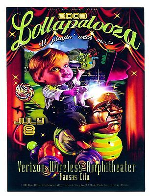 2003 Lollapalooza Kansas City Concert Handbill - Jane's Addiction Kings of Leon+