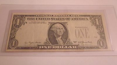 1977 One Dollar Bill Reverse Overprint Error ** Seal And Serial Numbers On Back