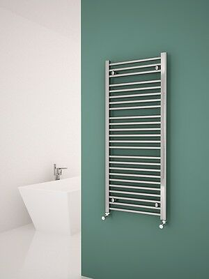 Straight Chrome Heated Bathroom Towel Rail Radiator 5 Years Guarantee 500x1150