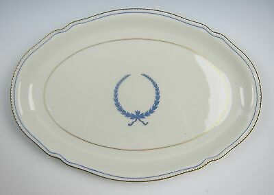 "Castleton China EMPIRE-BLUE WREATH Oval Serving Platter 13"" VERY GOOD"