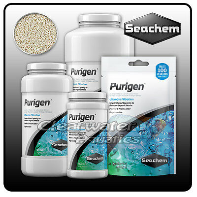 Seachem Purigen AQUARIUM Nitrite Nitrate AMMONIA CONTROL Filter Media Fish Tank