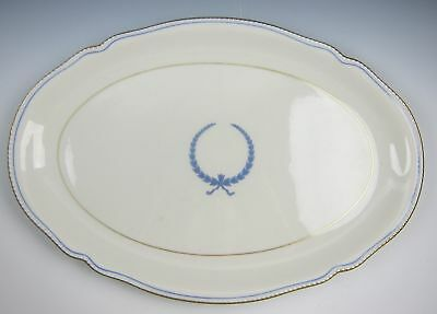 "Castleton China EMPIRE-BLUE WREATH Oval Serving Platter 16"" VERY GOOD"