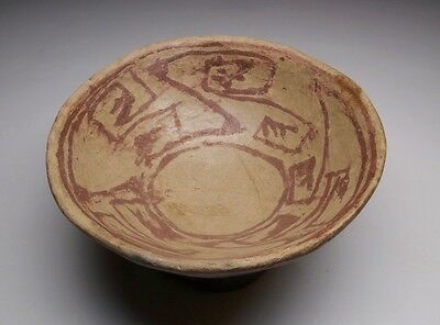 Pre-Columbian Ceramic Bowl 500 BC to 200  AD Northern Highlands Tuncahuan Phase
