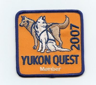 HTF 2007 Yukon Quest Dog Sled Race Member Patch Whitehorse, YT to Fairbanks, AK