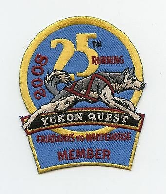 HTF 2008 Yukon Quest Dog Sled Race Member Patch Fairbanks, AK to Whitehorse, YT