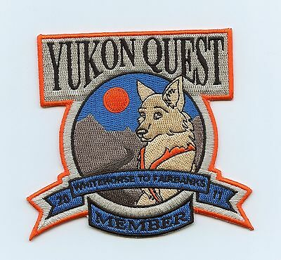 HTF 2011 Yukon Quest Dog Sled Race Member Patch Whitehorse, YT to Fairbanks, AK