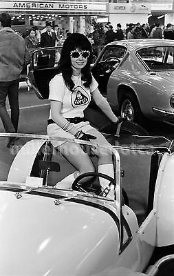 1968 Lotus Car Model Toronto Auto Show Original B&W 35mm Film Negative Mod Girl