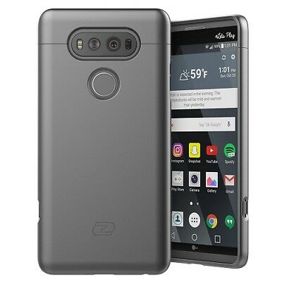 LG V20 Case, Ultra Thin  Full Coverage, Hybrid Tough Shell (Gray)