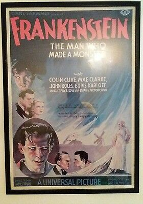 vintage Frankenstein movie poster