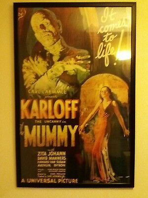 vintage mummy movie poster