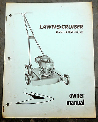 1960's Lawn-Cruiser LC3050 Canada Lawn Mower Owner's Manual Johnson Evinrude