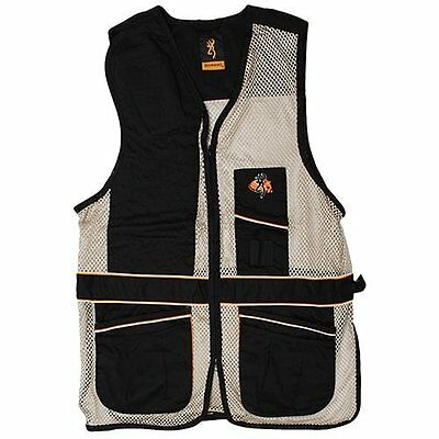 Browning Deluxe Right Hand Shooting Vest Black/Tan Meduim 3050179902