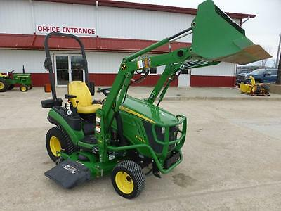 2012 John Deere 1026R Mfwd Compact Tractor With Loader & Mower Deck