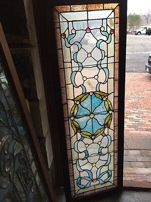 RK 11 Antique Stainglass Jeweled Transom Window