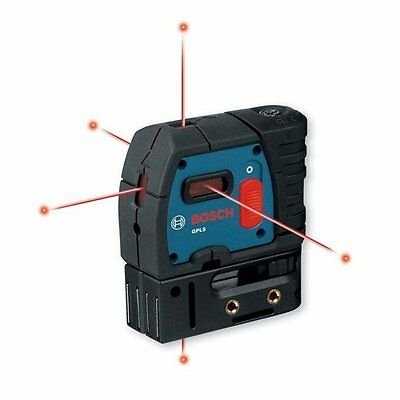Bosch GPL 5 Five Point Self-Leveling Plumb Laser with Carrying Case