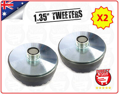 "2x Titanium Compression 1.35"" Screw-On Horn Driver Tweeter 13cm Diameter Gold"
