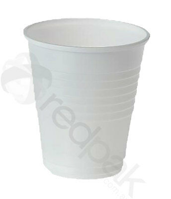 1000 x White Plastic Drinking Cups Disposal  6oz (200ml)  # 65001