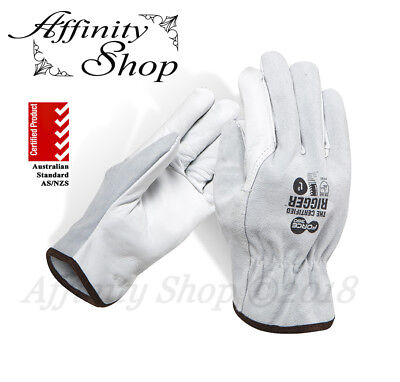 12x Force360 Certified Split Leather Rigger Gloves Cowhide Riggers Work Glove