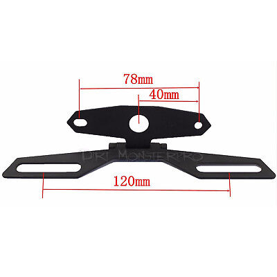 Universal Motorcycle License Plate Tag Holder Tail Light Rear Bracket Mount
