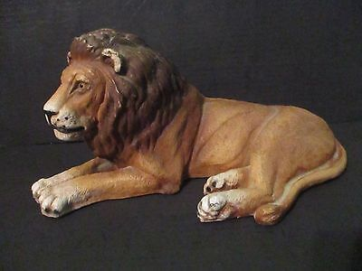 large resin lion statue