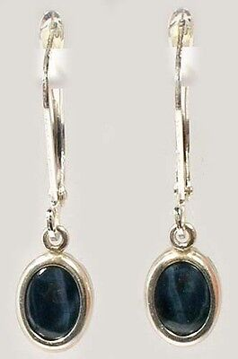Blue Star Sapphire Earrings 3¼ct Antique 19thC - Ancient Anti-Witch Black Magic