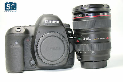 Canon EOS 5D Mark IV DSLR Body Camera with EF 24-105mm f/4L Kit Lens