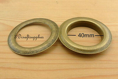 eyelets metal with washer grommets anti brass round 14 sets 40 mm M48