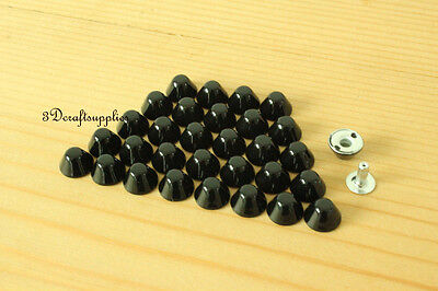 rivets leather rivet bag clothing shoes Cone 100 sets 7 mm AT53L
