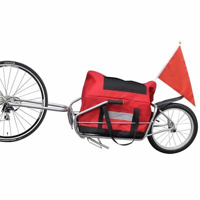 B#2-in-1 Bike Bicycle Cargo Carrier Trailer Utility Luggage Cart 1 Wheel 40 kg