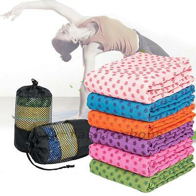 Yoga Mat Towel Anti-Slip Quick-dry Mat Cover Soft Fitness Exercise