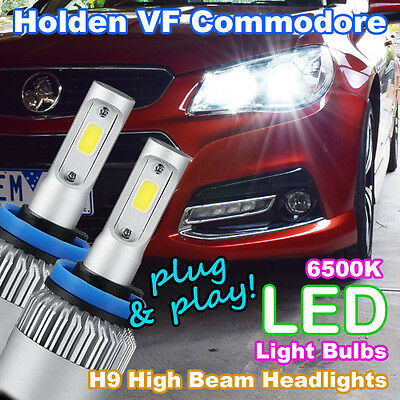 Plug-and-Play H9 6500K LED Headlight Bulbs to suit Holden VF Commodore High Beam
