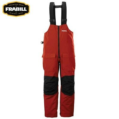 Frabill F2 Surge Fishing Rainsuit Bib Bibs - Color Red / Black - Size 2XL - NEW!
