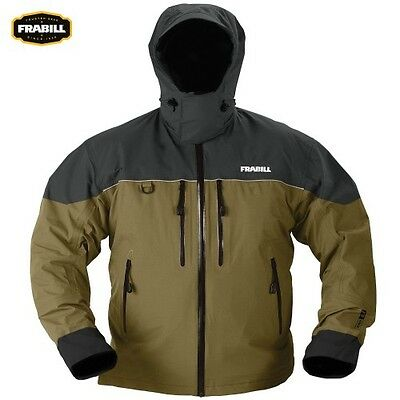 Frabill F3 Gale Fishing Rainsuit Rain Jacket - Color Brown Size Choose - NEW!