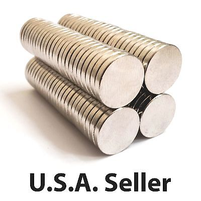 25 50 100 12x2 mm N48 Strong Rare Earth Neodymium Magnet Permanent Disc Magnets