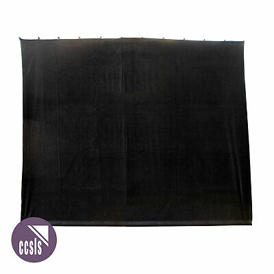 Bravo 3M X 2.5M Black Cotton Velvet Stage Curtain - Flat _ 3X2.5B