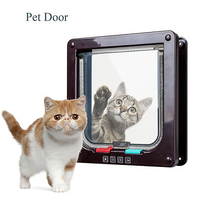 Pet Mate Lockable Door Flap White Or Brown For A Kitten Cat Puppy Small Dog 304