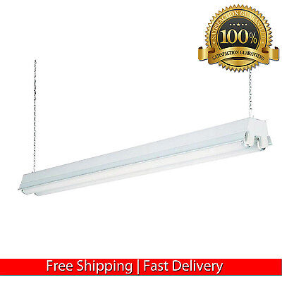 Garage Ceiling Lamp 2 Light White Fluorescent Lightning Workshop Shop Light New