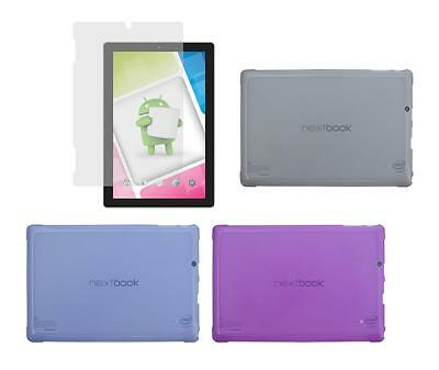 TPU Case + Screen Protector for Nextbook Ares 10A 10.1 Inch Tablet 2016 Release