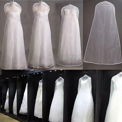 2 Size Dust-proof Wedding Bridal Gowns Prom Dresses Garment Storage Cover Bag