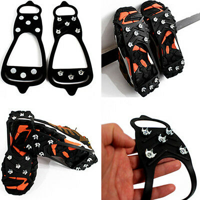 8-Teeth Ice Snow Shoes Spikes Claws Boots Chain Crampon Anti-slip Climbing Shoe