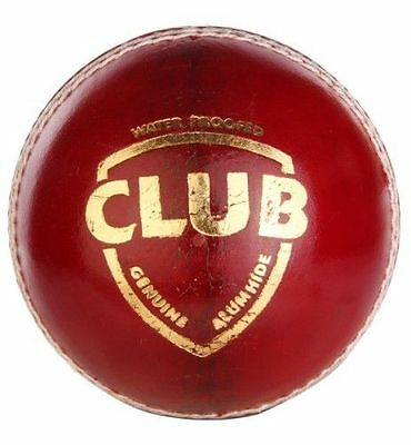 SG Club Red 4 Piece LEATHER Cricket Ball 1/2/3/6/12 + OZ Stock + Free Ship
