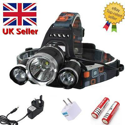 12000LM CREE LED 3x T6 18650 Headlamp Headlight Head Light Lamp Torch Flashlight