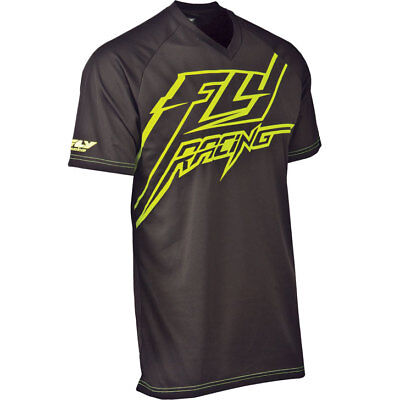 Fly Racing Shirt Action schwarz-neon