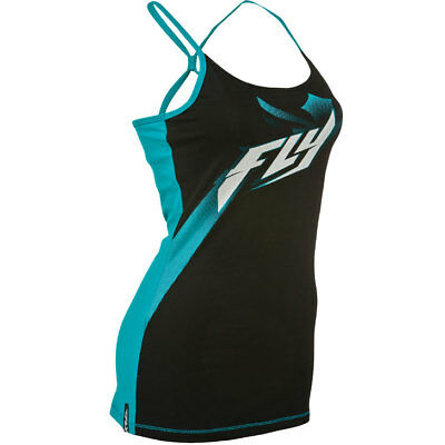 Fly Racing Shirt Halftone Lady schwarz-teal