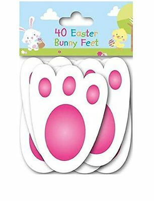 40 Easter Bunny Feet Footprints Egg Hunt Game Party Rabbit Paw Prints Decoration