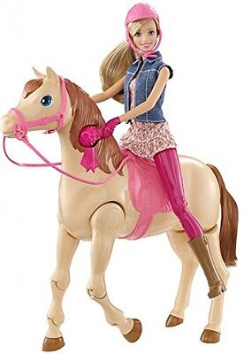 Doll Playset Barbie Saddle n Ride Horse with Ride in One Swift Motion Girl Toys
