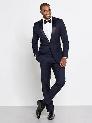 Navy Blue Men Wedding Suits Slim Fit Wedding Groom Tuxedos Men Suits Groomsman